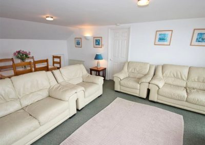 The living area at Beacon, Falmouth