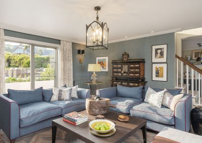 The living area at Beam Ends, Beesands