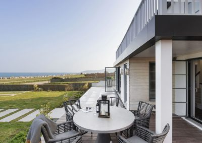 The front patio at Beam Ends, Beesands