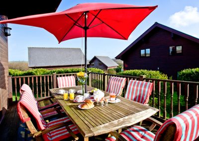 The sun deck @ Beech Lodge, Retallack, St. Columb