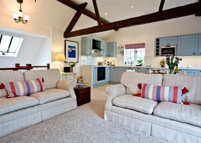 The open plan living and dining area @ Bell Cottage, Sidmouth