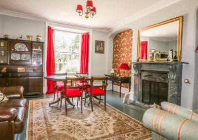 The dining area at Benbole Farmhouse, St Kew