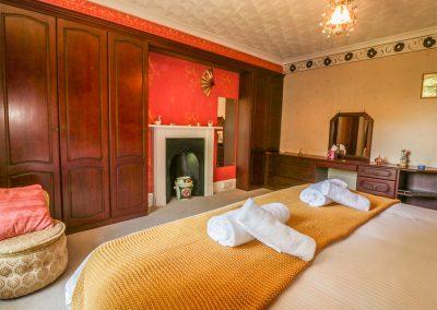 Bedroom #1 at Benbole Farmhouse, St Kew