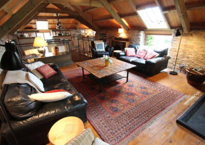 The living area at Bentwitchen Barn Cottage, North Heasley