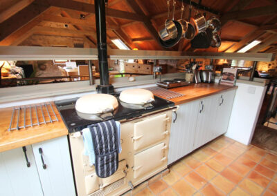 The kitchen at Bentwitchen Barn Cottage, North Heasley