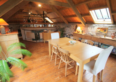 The dining area at Bentwitchen Barn Cottage, North Heasley