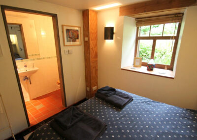 Bedroom #3 and en-suite at Bentwitchen Barn Cottage, North Heasley