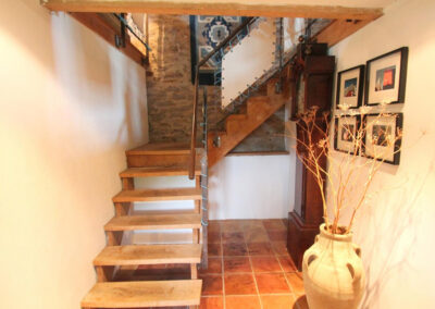 The stairs at Bentwitchen Barn Cottage, North Heasley