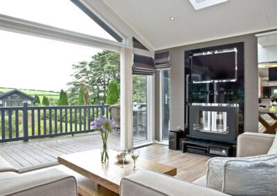The living area at Berrynarbor Lodge, Kentisbury Grange, Kentisbury