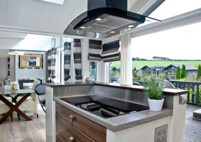 The kitchen at Berrynarbor Lodge, Kentisbury Grange, Kentisbury
