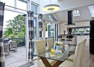 The dining area at Berrynarbor Lodge, Kentisbury Grange, Kentisbury