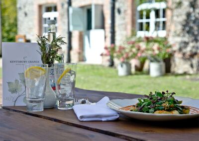 The onsite restaurant & bar at Kentisbury Grange, Kentisbury