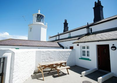 The enclosed courtyard at Bishop Rock, Lizard Lighthouse, Lizard