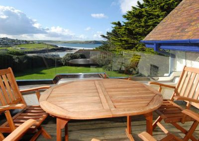 Enjoy al fresco dining on the terrace @ Bishops View, New Polzeath