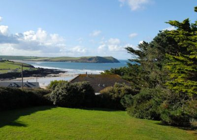 Enjoy stunning views from the communal garden @ Bishops View, New Polzeath
