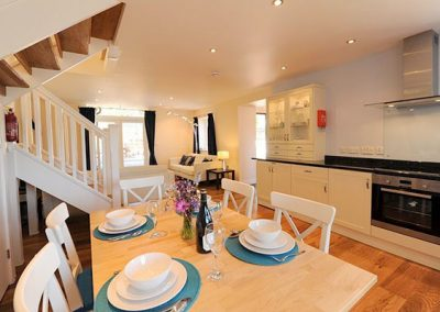 The dining area @ Black Pit Cottage, Woolacombe