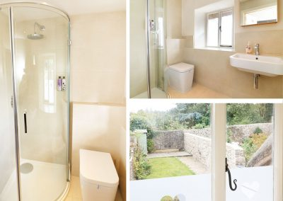 The bathroom at Blackberry Cottage, Chagford