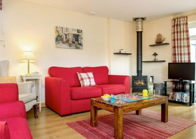 The living area at Blackberry Cottage, Coad's Green