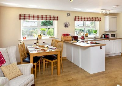 The dining area at Blackberry Cottage, Coad's Green
