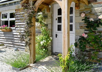 The entrance at Blackberry Cottage, Coad's Green