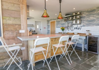 The kitchen at Blue Bay Beach House, Trenance