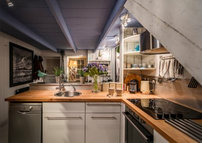 The kitchen at Blue Moon, St Ives