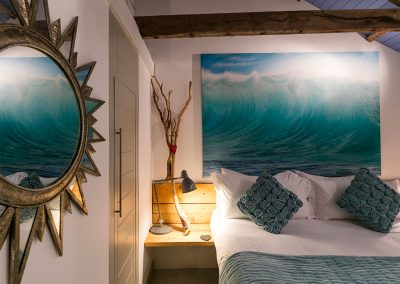 The bedroom at Blue Moon, St Ives