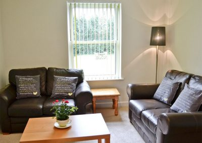 The living area at Bluebell, Bowden House, Maidencombe