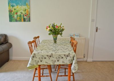 The dining area at Bluebell, Bowden House, Maidencombe