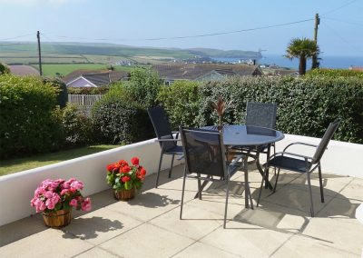 The patio at Bolt Tail View, Thurlstone