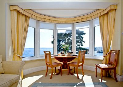The dining area at Boohay, Bay Fort Mansions, Torquay