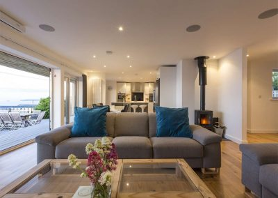 The living area at Boscarne, St Ives