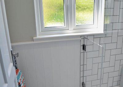 The shower room at Bosprennis, Mevagissey