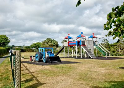 The children's play area at Wooda Farm, Bush