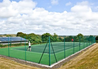 The tennis court at Wooda Farm, Bush