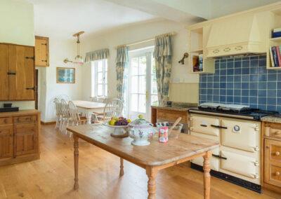 The kitchen at Bratton Mill Farmhouse, Bratton Fleming