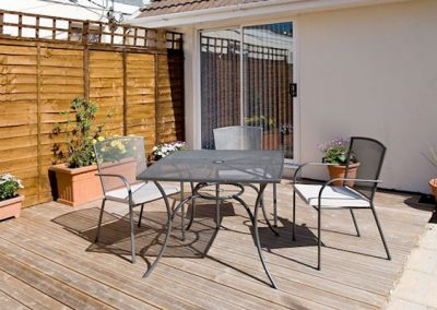 The patio area @ Bridge House, Perranporth