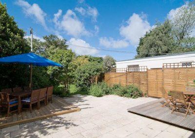 The spacious garden @ Bridge House, Perranporth