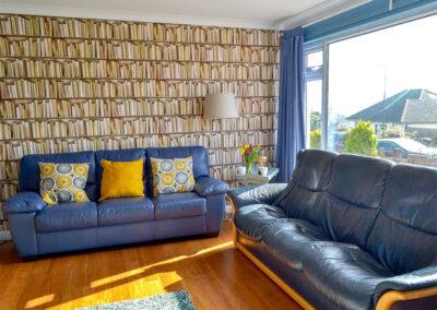 The living area at Broadsands Retreat, Goodrington