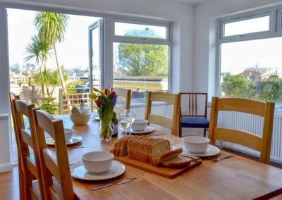 The dining area at Broadsands Retreat, Goodrington