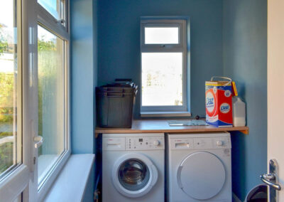 The utility room at Broadsands Retreat, Goodrington