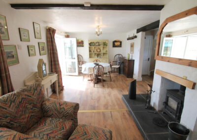 The living area at Brook Cottage, Swincombe