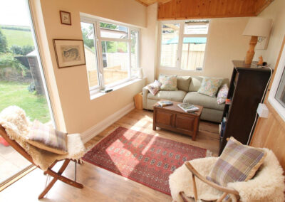 The sun room at Brook Cottage, Swincombe