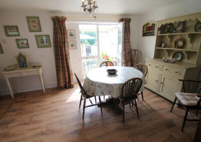 The dining area at Brook Cottage, Swincombe