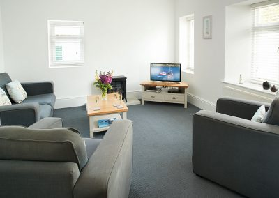 The living area at Brook Cottage, Trevose Head Lighthouse, Trevose
