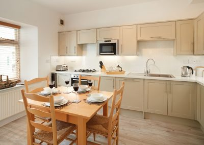 The kitchen & dining area at Brook Cottage, Trevose Head Lighthouse, Trevose