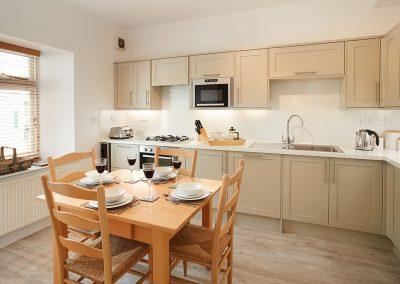 The kitchen & dining area at Brook Cottage, Trevose Head Lighthouse, Trevose