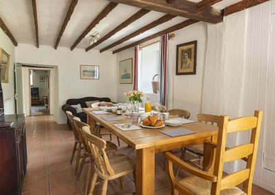 The dining area at Brook Farm, Washbourne