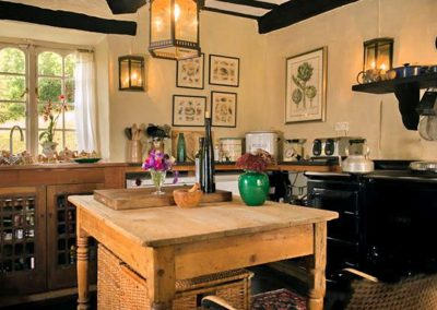 The kitchen at Brooks Cottage, Dunsford