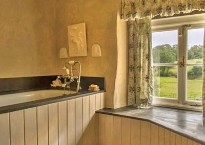 Bedroom #1 en-suite at Brooks Cottage, Dunsford